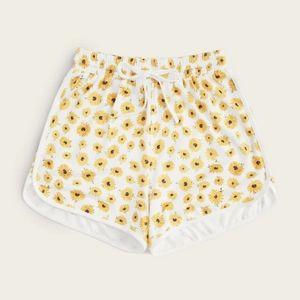 Sunflower high waist draw string shorts
